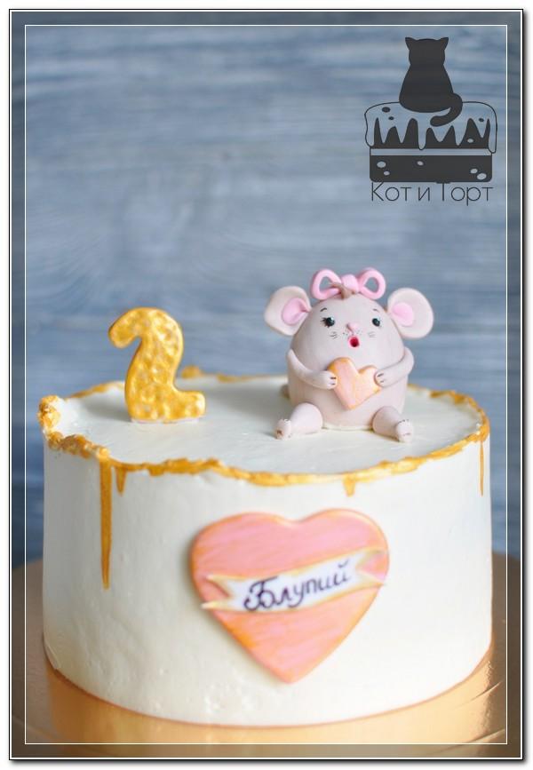 Торт с мышонком-малышонком