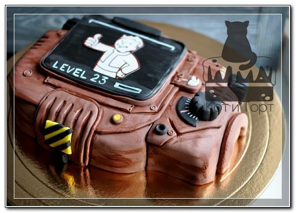 Торт в виде компьютера из Fallout