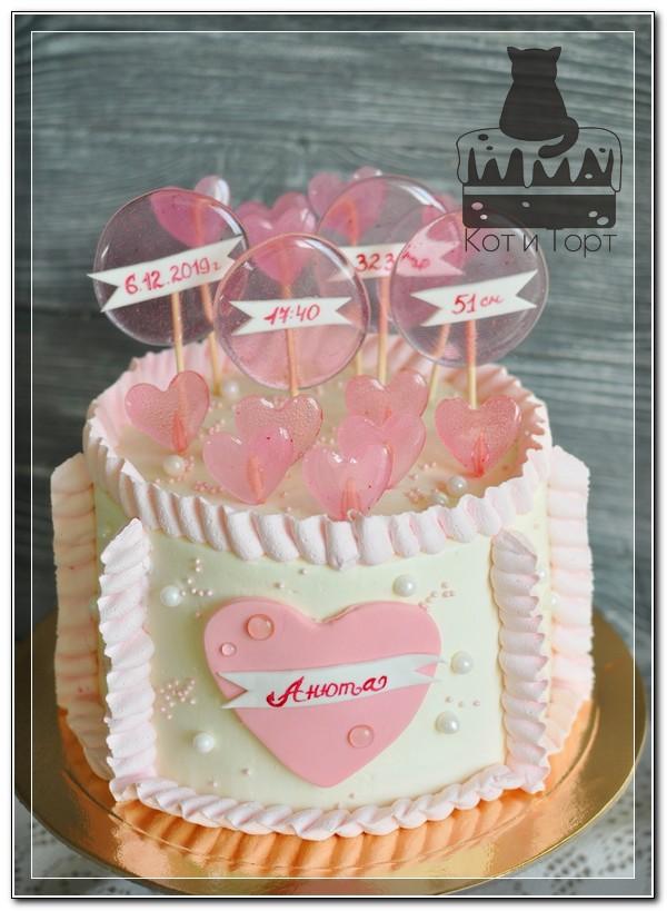Торт-метрика для девочки