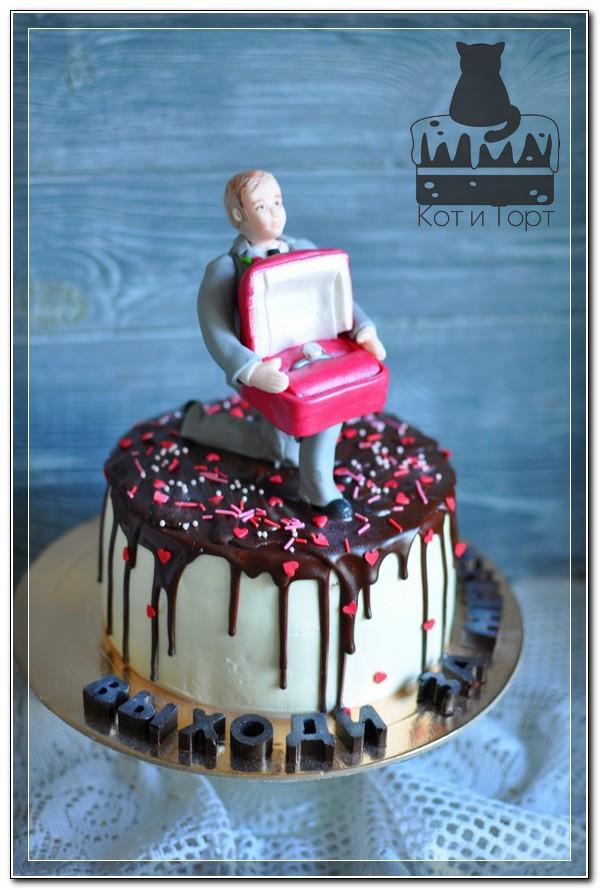 Торт-предложение руки и сердца