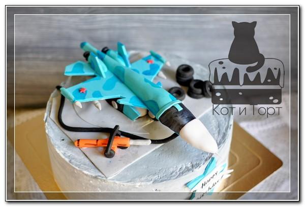 Торт с истребителем