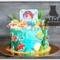 Морской торт с русалочкой