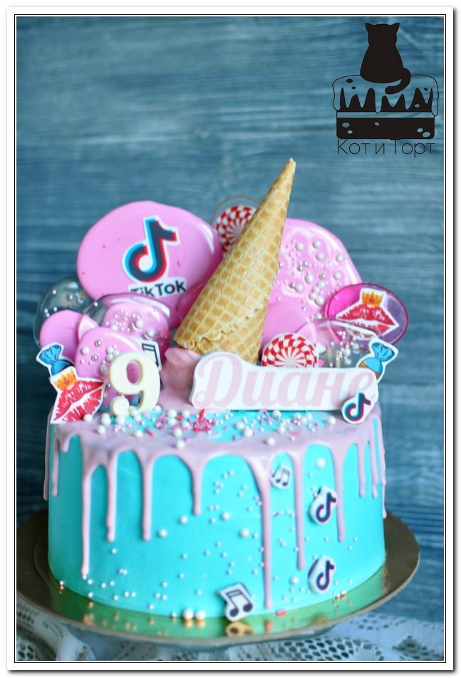 Бирюзовый торт для Дианы
