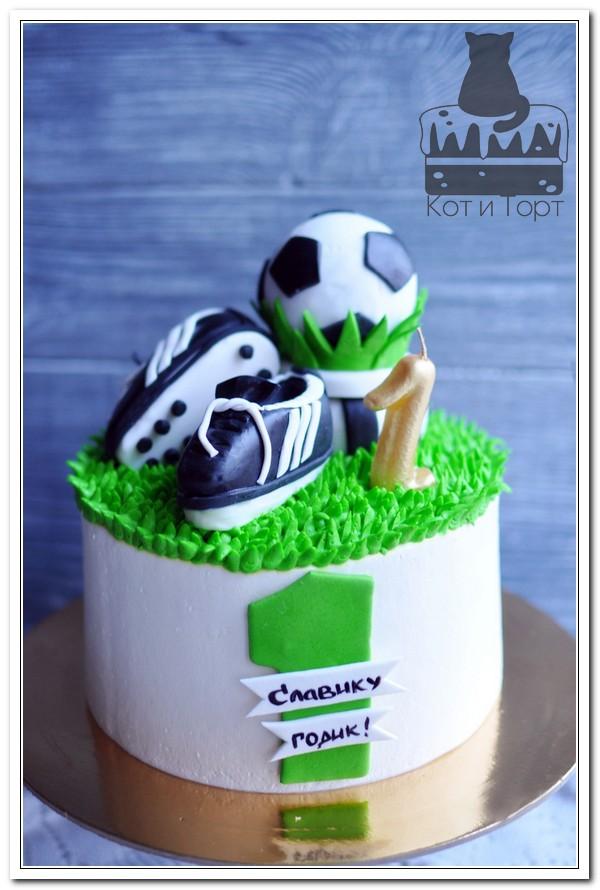 Торт для будущего футболиста