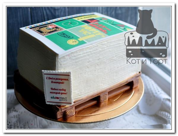 Торт для типографии