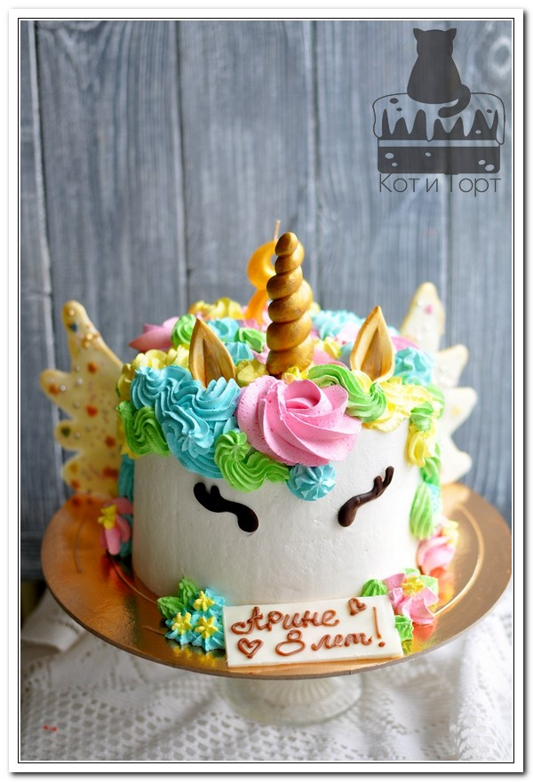 Торт-единорог для девочки