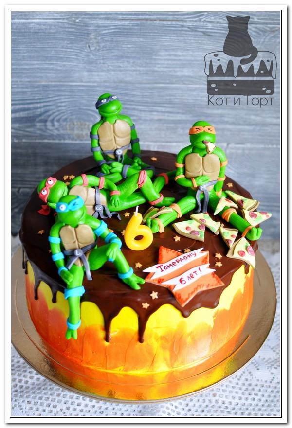 Торт с черепашками-ниндзя