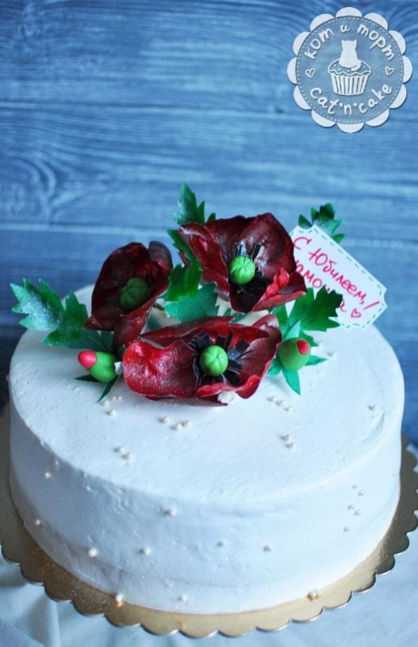 Торт с маками