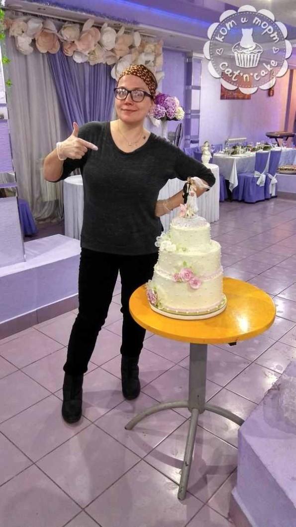 как собрать свадебный торт