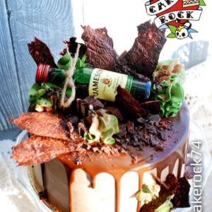 Торт с бутылочкой виски cakerock