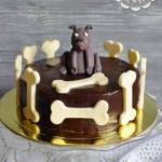Торт с собачкой и костями