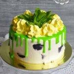Освежающий торт с мятой