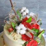 Красочный торт с грушами