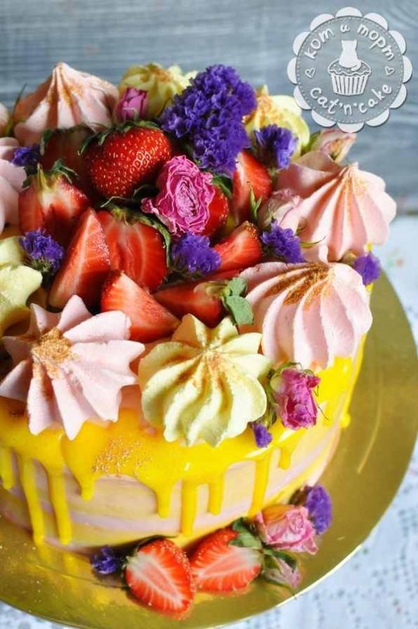 Вкуснющий торт с зефиром