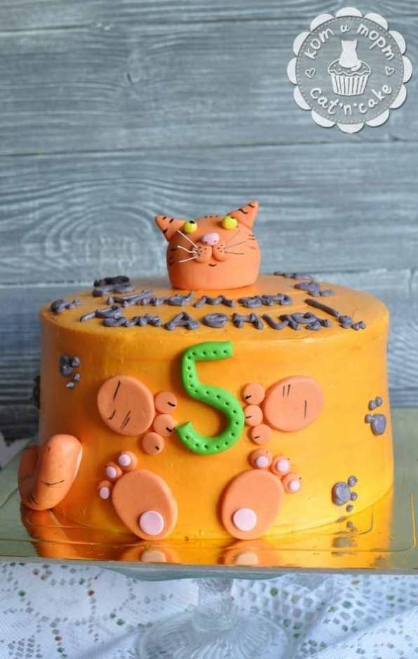 Торт с котиком внутри