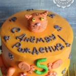 Торт с рыжим котиком внутри-2