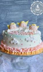 Торт с тремя ангелочками