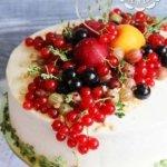 Летний ягодный торт