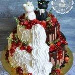 """""""Половинчатый"""" свадебный торт"""