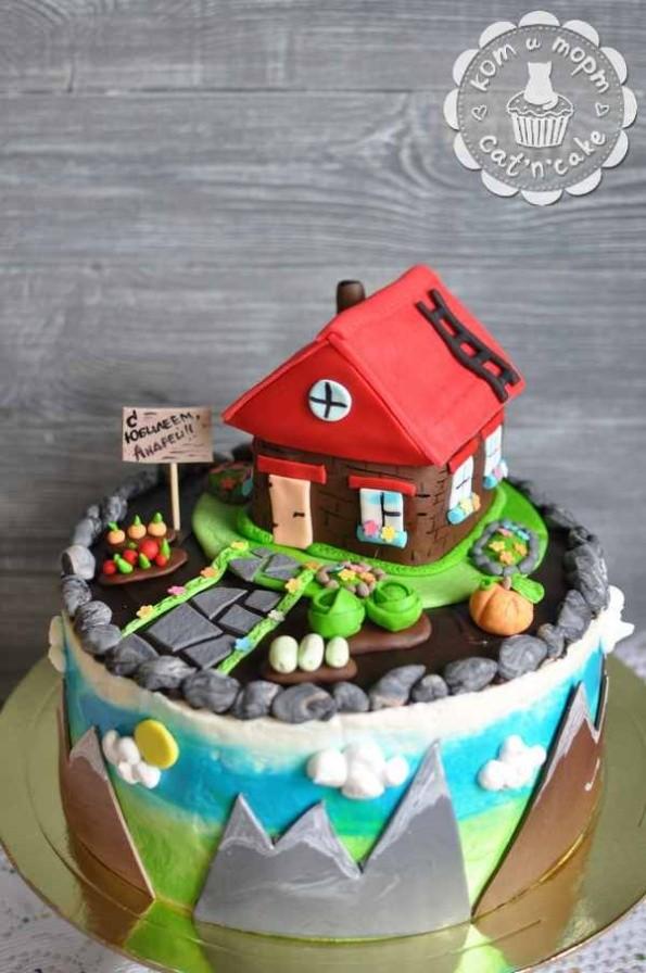 Торт с маленьким садиком