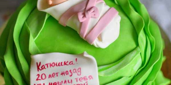 Торт с младенчиком в капусте