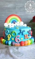 Радужный детский торт