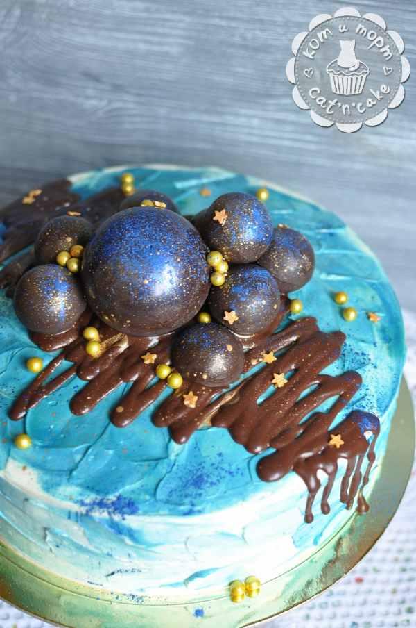 Шоколадные шары для украшения торта