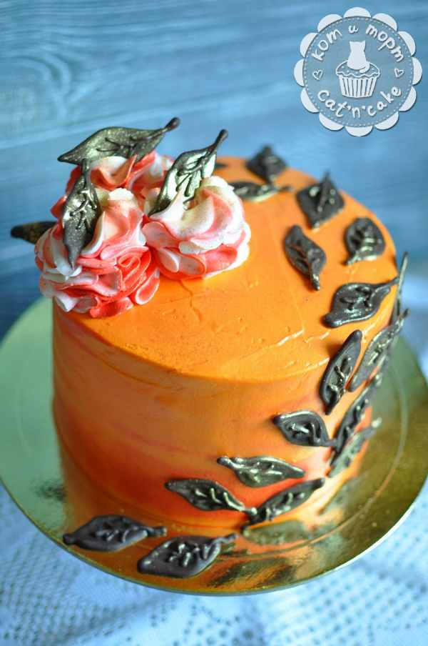 Торт в осенних тонах
