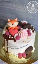 Торт с весёлым лисёнком