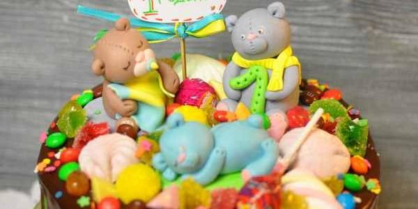 Торт с мишками