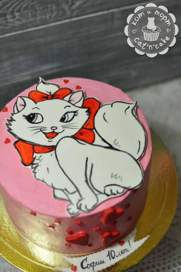 Торт с кисочкой