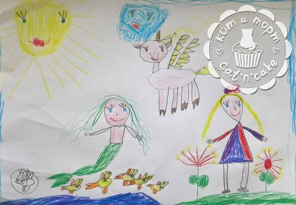 Детский рисунок для декора