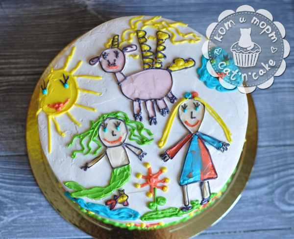 Торт с детским рисунком