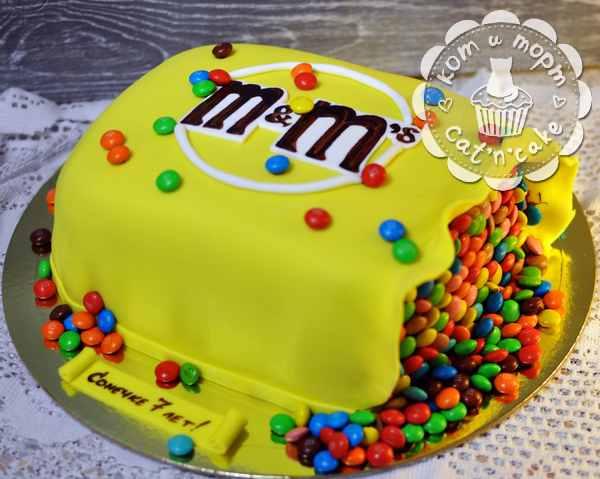"Торт-коробка с ""M&m`s"""