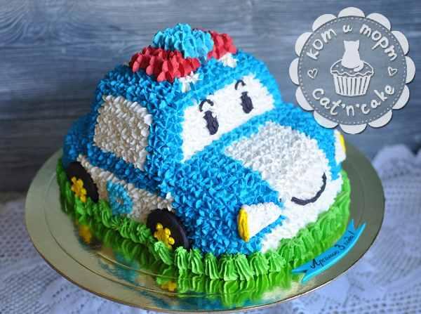 Торт-машинка для самых маленьких