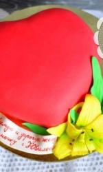 Торт «Красное сердце»