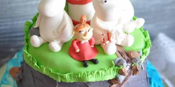 Торт с Муми-троллями