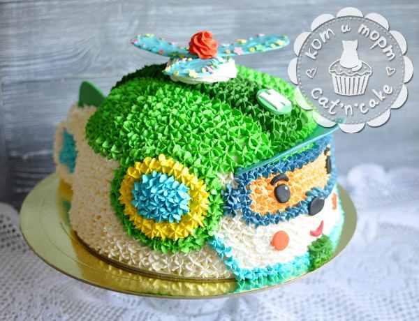 Торт-вертолёт для самых маленьких