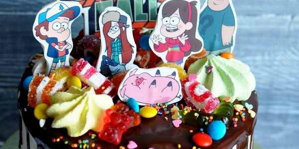 Торт с героями мультфильма