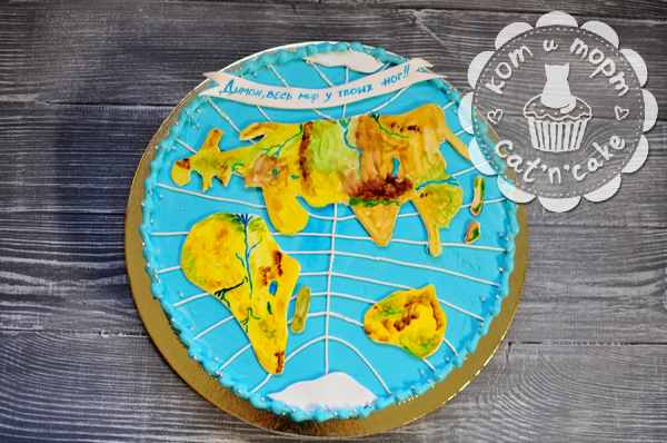 Торт - карта мира