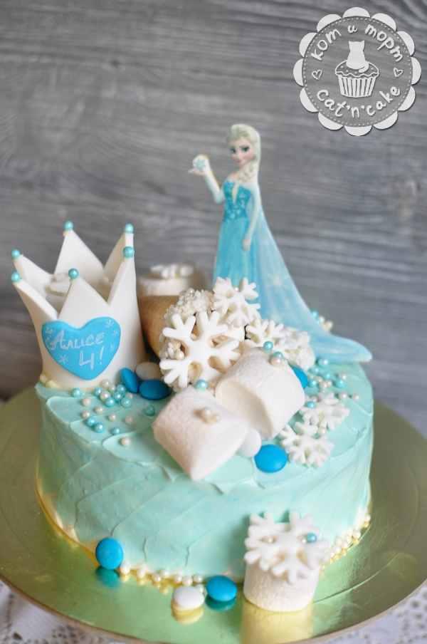 Торт с Эльзой