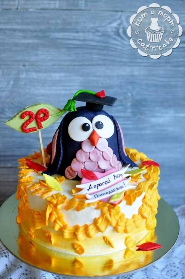 Торт с умной совой
