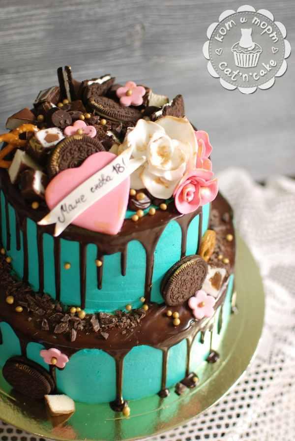 Двухъярусный торт для мамы