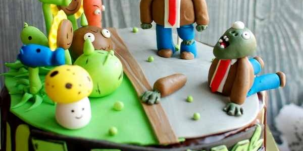 Торт «Растения против зомби»
