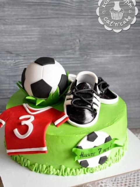 Торт для маленького футболиста