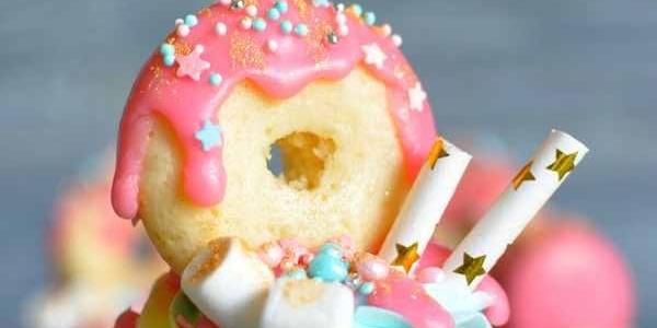 Капкейк с пончиком