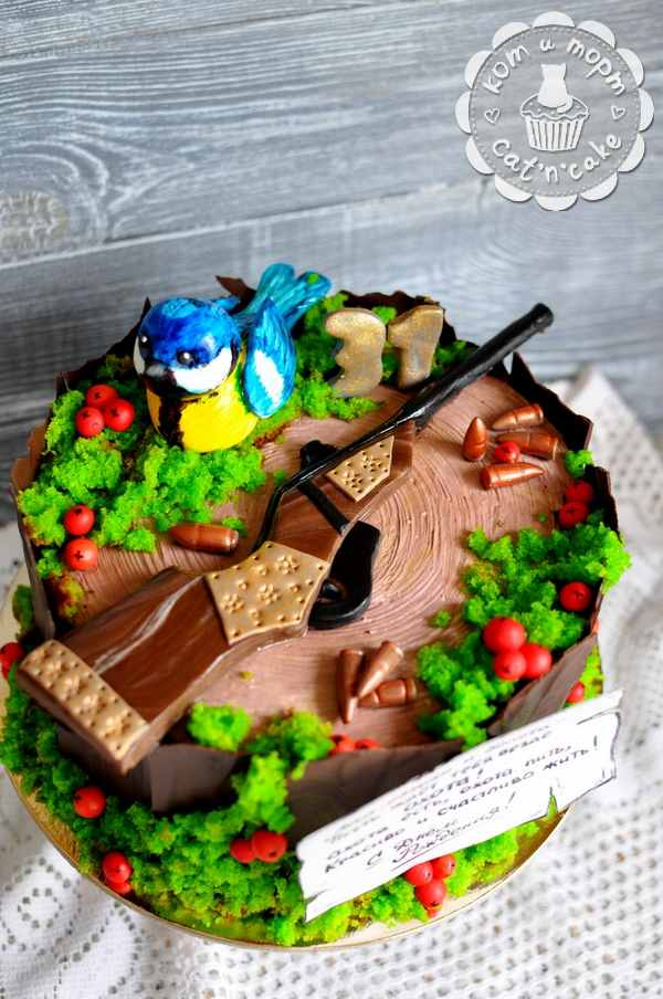 Охотничий торт с ружьём