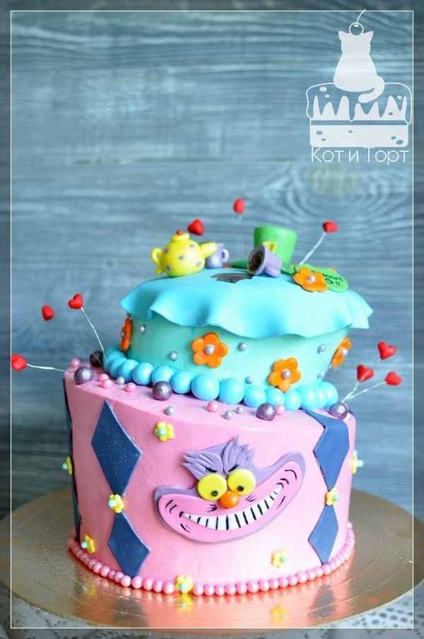 """Неправильный торт """"Алиса в стране чудес"""""""