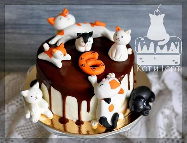 Торт с семью котами