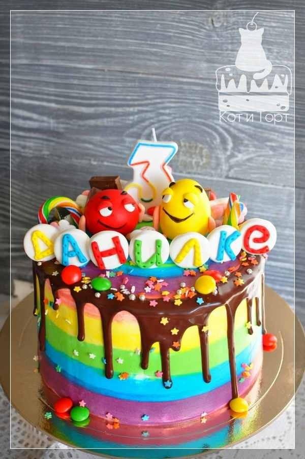 Торт с M&m`s